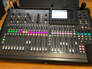 Behringer x32 soundboard console with road case