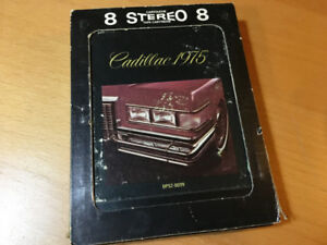 1975 Cadillac 8-track player DEMO TAPE CARTRIDGE