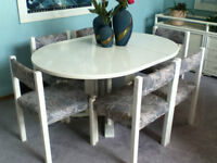 White Oak Dining Table w/Six Chairs