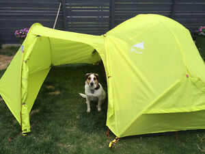 Tent, tarp, sleeping bag, pad, stove, hiking poles, backpack +++