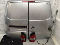 VW T5 barn doors in reflex silver and lights