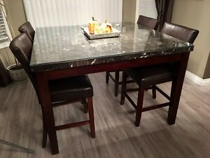 Modern 7 Piece Dining set - Real Marble top  Strathcona County Edmonton Area image 5
