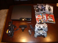 Sony PlayStation 3 Slim Console 125GB with 2 remotes & 7 games