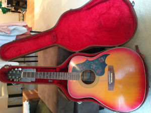 Rare Vintage Yamaha Acoustic Guitar FG295-S and hard case.