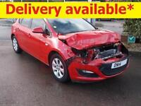 2014 Vauxhall Astra 1.6 Design DAMAGED REPAIRABLE SALVAGE