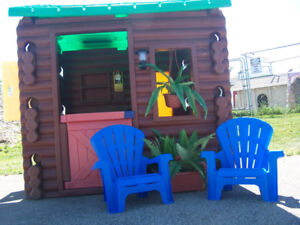 Little Tikes Log Cabin Playhouse and more....