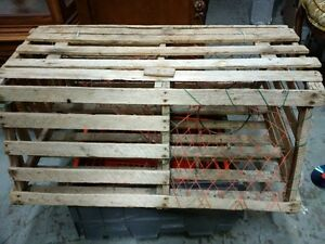 "Antique Lobster Trap 31""w x 22""d x 13.5""h"