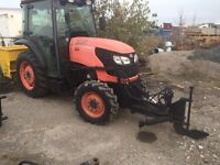 2008 Kubota Tractors with Snow Plows and Blowers