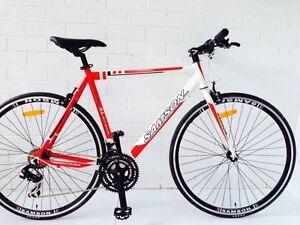 SAMSON CYCLES 14/15 21 SPEED FLAT BAR ROAD BIKE Brunswick Moreland Area Preview