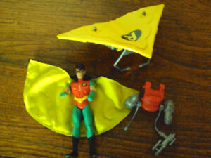 ROBIN ACTION FIGURE WITH TURBO GLIDER 1993