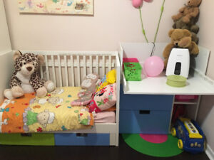 stuva ikea crib and changing table