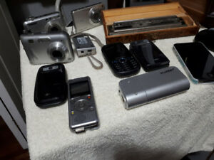 A variety of used electronics