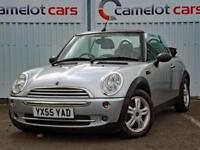 2005 (55) MINI ONE SILVER CONVERTIBLE 1.6 PETROL GREAT HISTORY 12 MONTHS MOT