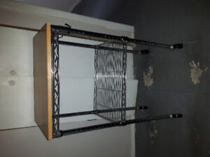 Stainless steel  w/wooden top trolley