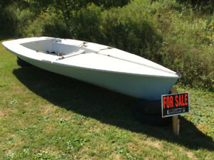14' Tasar 2 person fibreglass sailboat