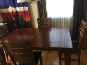 Dinning room table and four chairs