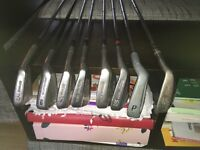 Various brand golf blade irons & putter.