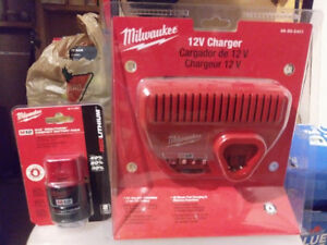 Milwaukee M12 Battery and Charger