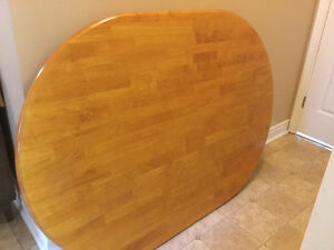 large solid wood dining table and 2 matching chairs delivery inc
