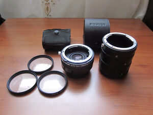 For Nikon: Extension Tubes, 2X Teleconverter, Close-up Filters