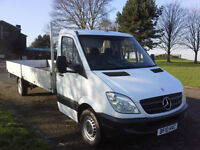 Mercedes Sprinter XLWB Extra Long 19ft 6ins Dropside 1 Owner 73528 Miles
