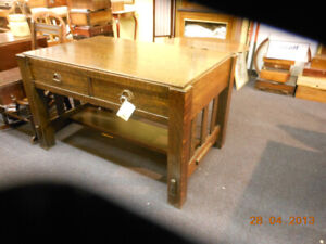 ARTS AND CRAFTSLIBRARY TABLE  SOLID OAK