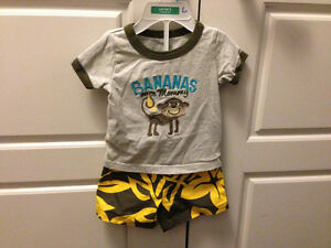 5 Boys Summer outfits, size 6-12mos $15