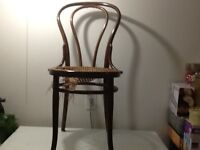 Solid Oak Canned Chair