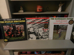 Vinyl Records Country Bluegrass Ralph Stanley Rare Lot of 5