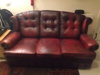 Chesterfield wing back sofa