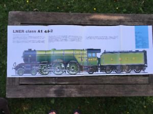 """Steam Locomotive - 2-Sided Poster – Castle/LNER Class - 34x11"""""""