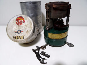 1952 MILITARY FIELD STOVE Coleman CHANCE VOUGHT FT3U CUTLASSnavy