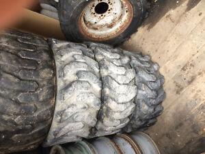 Used skid steer tires 8 tires 2 rims