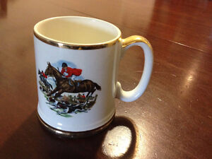 Lord Nelson Pottery Stein - Gold trimmed porcelain - exc conditi