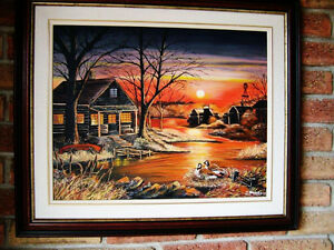 REDUCED !!!Beautiful Sunset Oil Painting Stratford Kitchener Area image 2