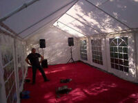 Marquee hire, chairs and tables hire for wedding, birthday, engagement, party, baby shower etc