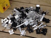 Solar panel clips and screws