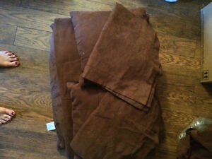Brown faux suede double duvet/comforter