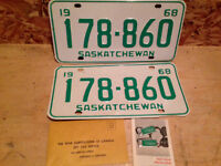 Rare Find!!! 1968 Plates with matching war amp tags!!!