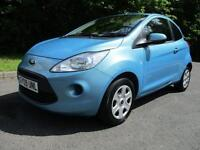 09/09 FORD KA 1.2 STYLE 3DR HATCH IN MET BLUE WITH ONLY 53,000 MILES
