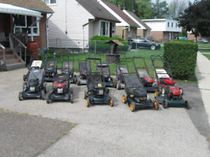 18 GAS POWERED LAWNMOWERS TUNED CHECKED READY TO GO