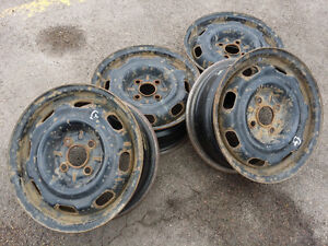 4x 14inch 4x100  Steel Wheels Fits Honda Saturn and others