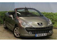 Peugeot 207 CC 1.6HDi 110 FAP Coupe Sport 2008 58 FSH NEW MOT AND SERVICE