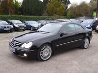 2006 MERCEDES CLK 200 AVANTGARDE 1.8 KOMPRESSOR AUTOMATIC BLACK 17 ALLOYS