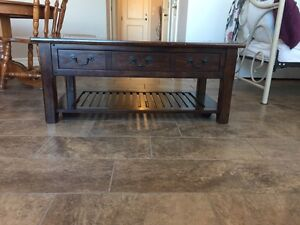 Two piece living room table set