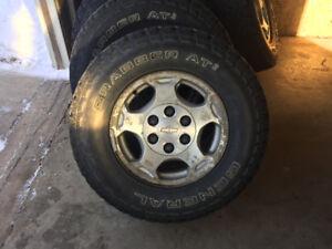 Chevy Silverado rims and tires