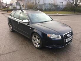 2007 07 AUDI A4 AVANT S-LINE TDI 140 ESTATE ALLOYS LEATHER LOVELY CON PX-SWAPS
