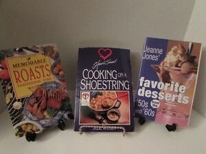 Lots of cooking books for sale - only 25 cents each!