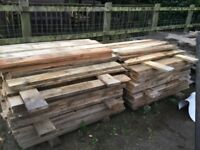 Timber pine boards.