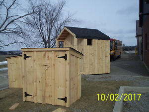 8 by 8 Shed & 35 inches by  52 inches Garbage Can shed
